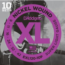 D'ADDARIO CORDES DE GUITARE EXL120-10 9/42