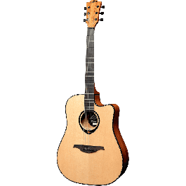 LAG - T66DC Dreadnought Cutaway - Naturel